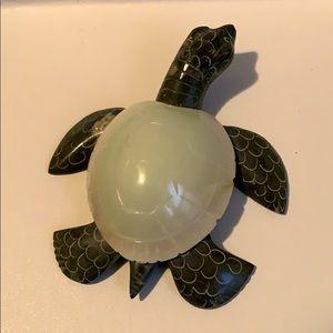 Marble/granite turtle figurine